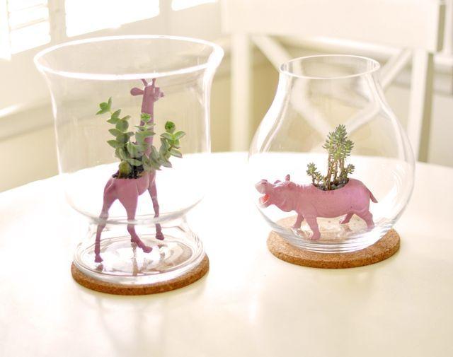 DIY Succulent Animal Planters