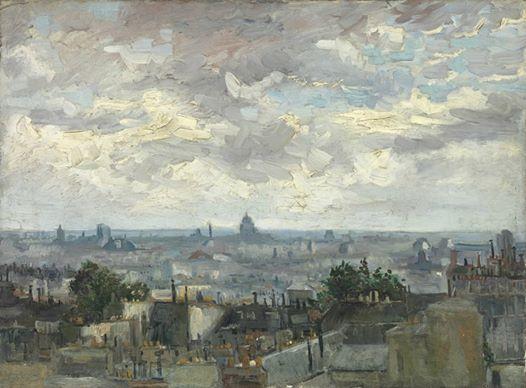 Art of the Day: Van Gogh, View of Paris, Summer 1886. Oil on canvas, 54.0 x 72.5 cm. Van Gogh Museum, Amsterdam.