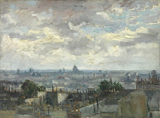 Art of the Day: Van Gogh, View of Paris, Summer 1886. Oil on canvas, 54.0 x 72.5 cm. Van Gogh Museum, Amsterdam.