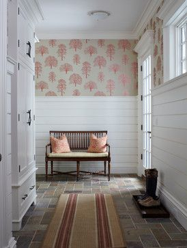 Wall paper and shiplap for entry