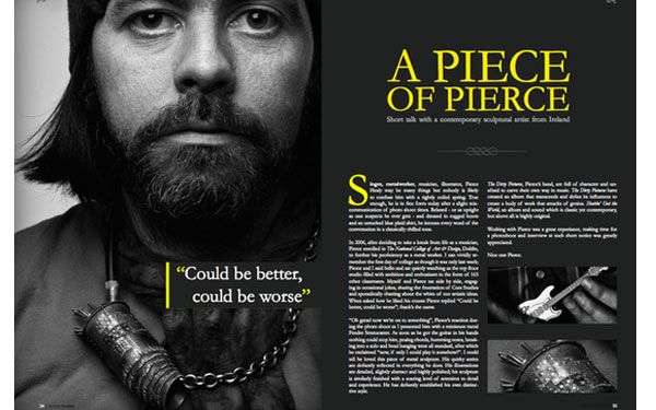 Great use of colour  - The yellow really pops against the black!: Graphic Design, Pull Quote, Magazine Design, Color, Google Search, Magazines, Magazine Spreads, Magazine Layouts, Magazine Layout Design