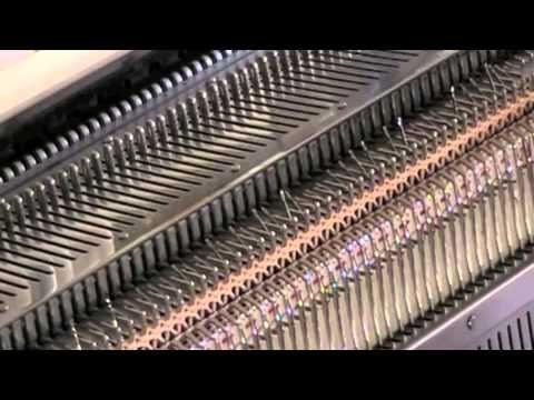 Macchina maglieria bordo smerlato - YouTube
