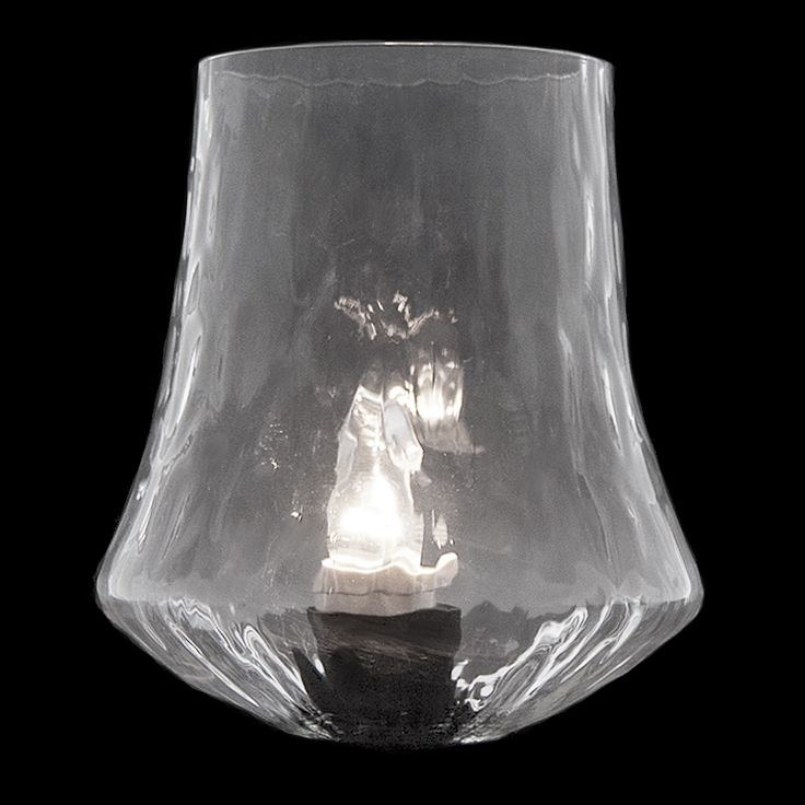 """#4506 F - Clear Optic Glass 1 13/16"""" x 6"""" - Glass Lampshades"""