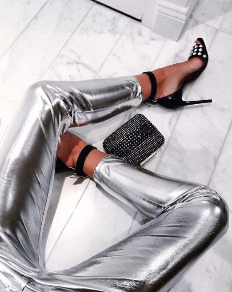 Tatjana Catic dressed in PINKO at New York Fashion Week