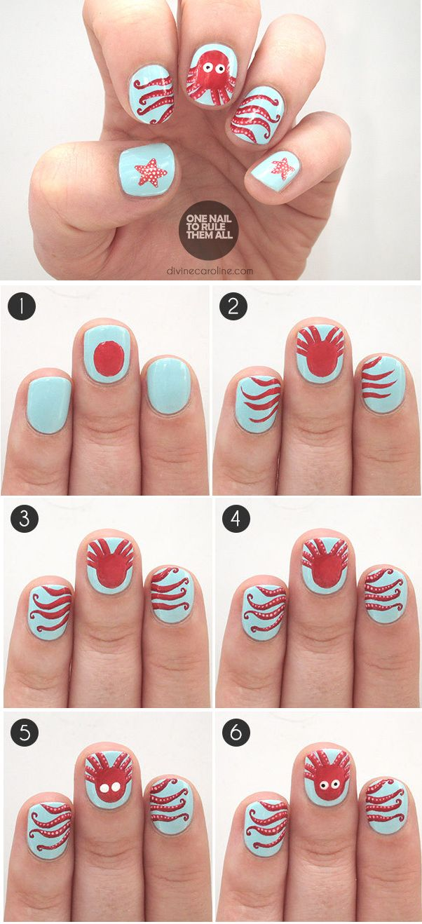 Under the Sea: Octopus Summer Nail Art to Try