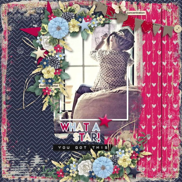 Template and Kit Proud of You by Heartstrings Scrap Art. Photo per kind favour of Marta Everest Photography.