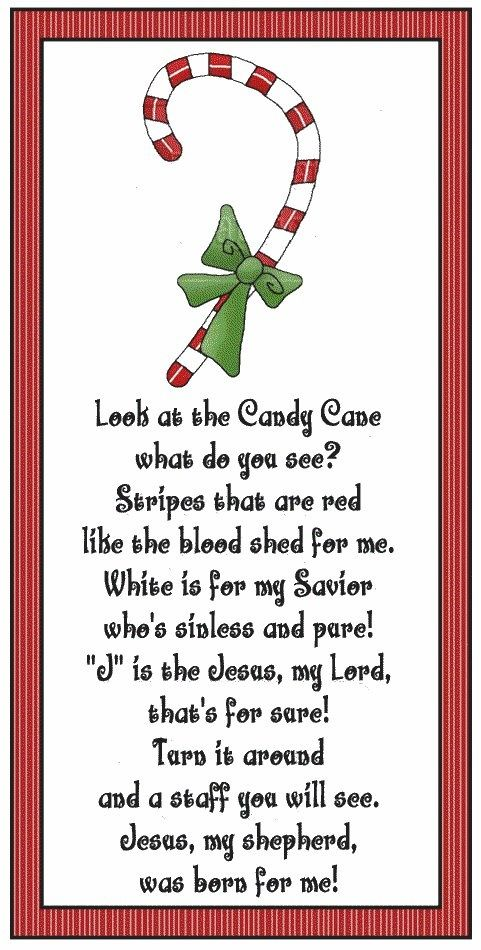 Candy Cane Legend: Jesus is the Gentle Shepherd, and this cane of red and white proclaims the humble story born on Christmas night. Description from pinterest.com. I searched for this on bing.com/images