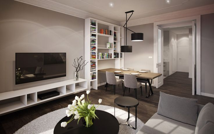Prague apartment visualizations  made for SMLXL studio