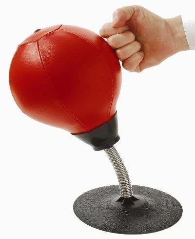 A desktop punching bag. | 22 Ingenious Products That Will Make Your Workday So Much Better