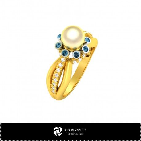 3D CAD Pearl Ring