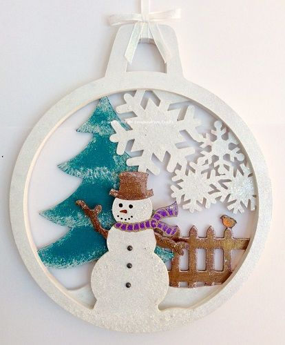 MDF Bauble created by Lisa B for Imagination Crafts. Hochanda ODS Aug 27/28. Rusty Patina, Starlights.