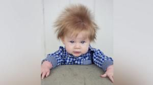 5-month-old baby boy's wild hair is the mane event