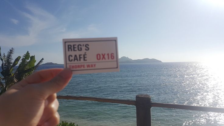 Thank you to Ryan@Oxigin for today's photobomb he tweeted us @RegsCafe Photobomb time! First is from Tokoriki Island in Fiji @TokorikiIsland 2nd is top of the Marina Bay Sands hotel in Singapore @marinabaysands #photobomb #regscafe