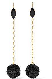 Isabel Marant Gold-tone crystal earrings