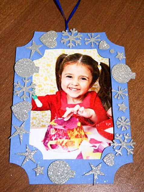 Cute DIY photo ornament - not from a kit