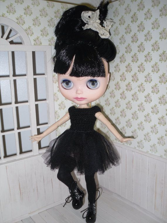 Short tutu dress and stockings for Blythe by LittleGiftCove