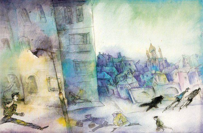 """Gennady Kalinovsky illustration for, """"The Master and Margarita""""."""