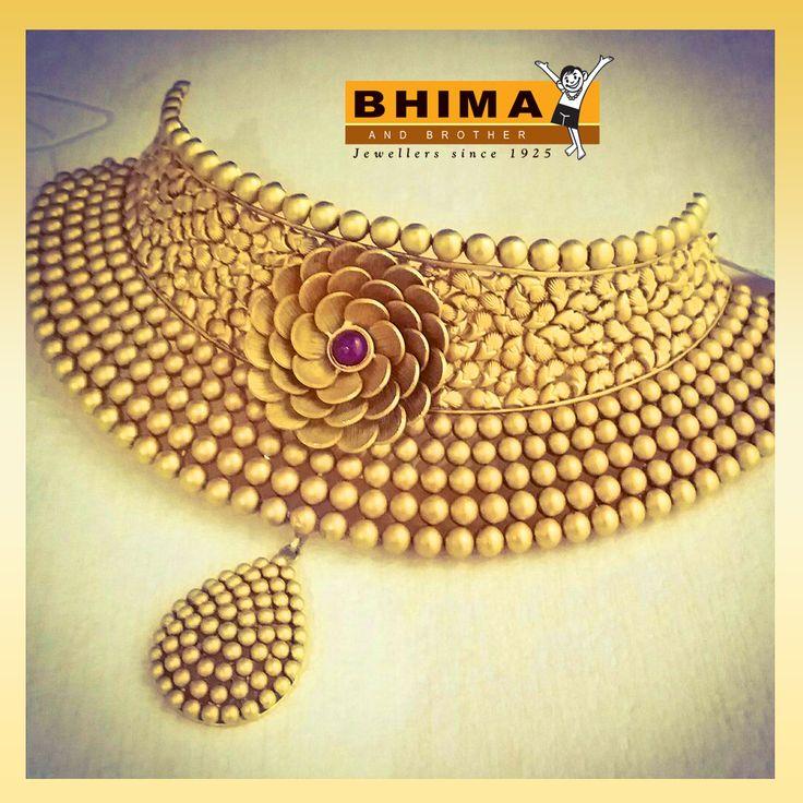#bhima #gold #necklace #fashion #jewellery #chocker