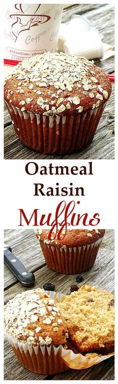 These Oatmeal Raisin Muffins are perfect to pack for lunch, on-the-go, or just anytime. Healthy, so good, and easy!