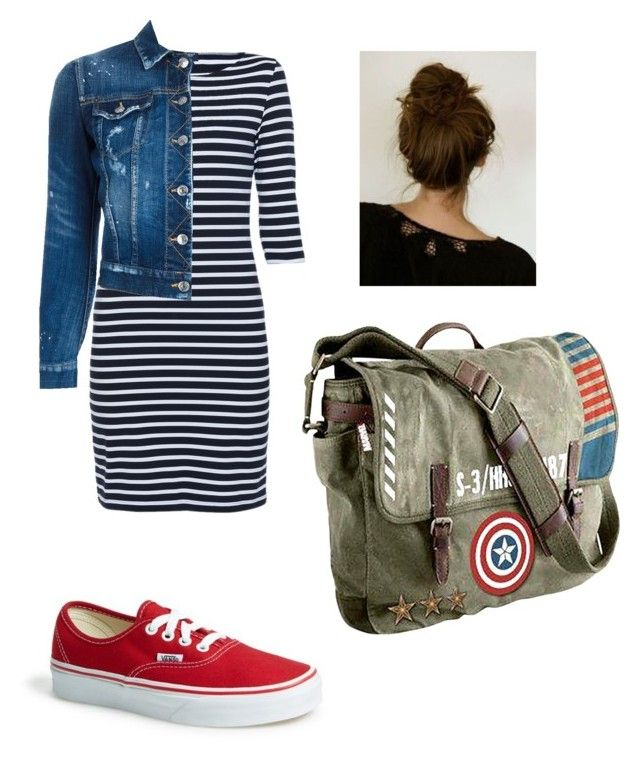 Untitled #59 by larissa-case on Polyvore featuring polyvore, fashion, style, Saint James, Dsquared2, Vans, Marvel and clothing