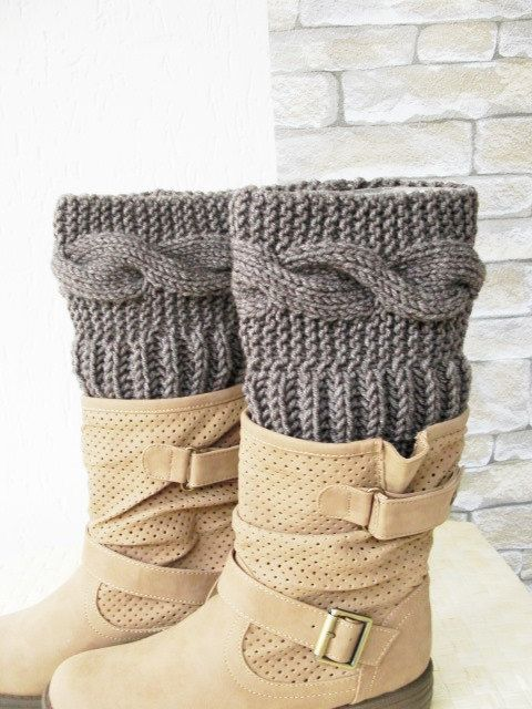 Boot Cuff Leg warmers women's accessories Legwear por Ebruk