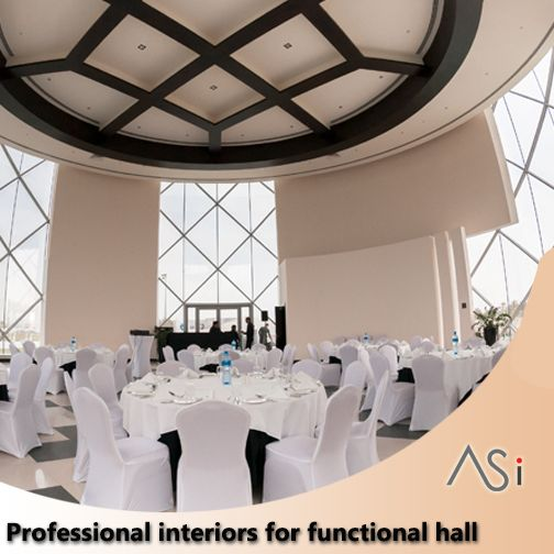 Professional interiors for functional hall We strive to turn your commercial #function_halls into contemporary #party_halls suitable for a variety of events www.as-interiors.com #FunctionHall #weddinghall #meetingroom #SingWithUS #Bahrain #Grandhall #happy #night #decoration #wedding #party #birthdayparty #weekend #venuehall #banquet #event #hotel