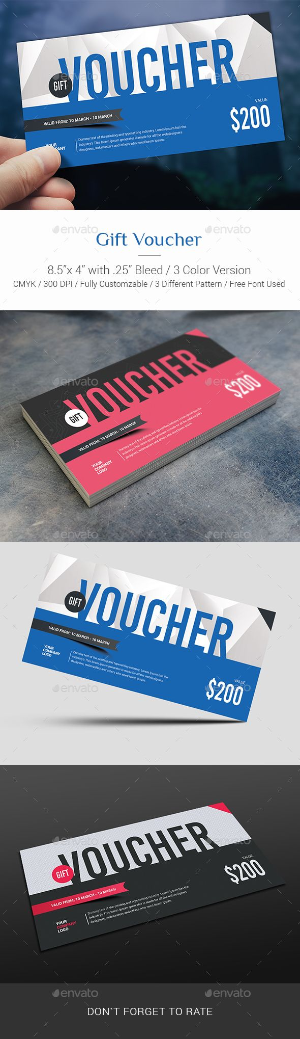 Gift Voucher Template PSD #design Download: http://graphicriver.net/item/gift-voucher/13790894?ref=ksioks