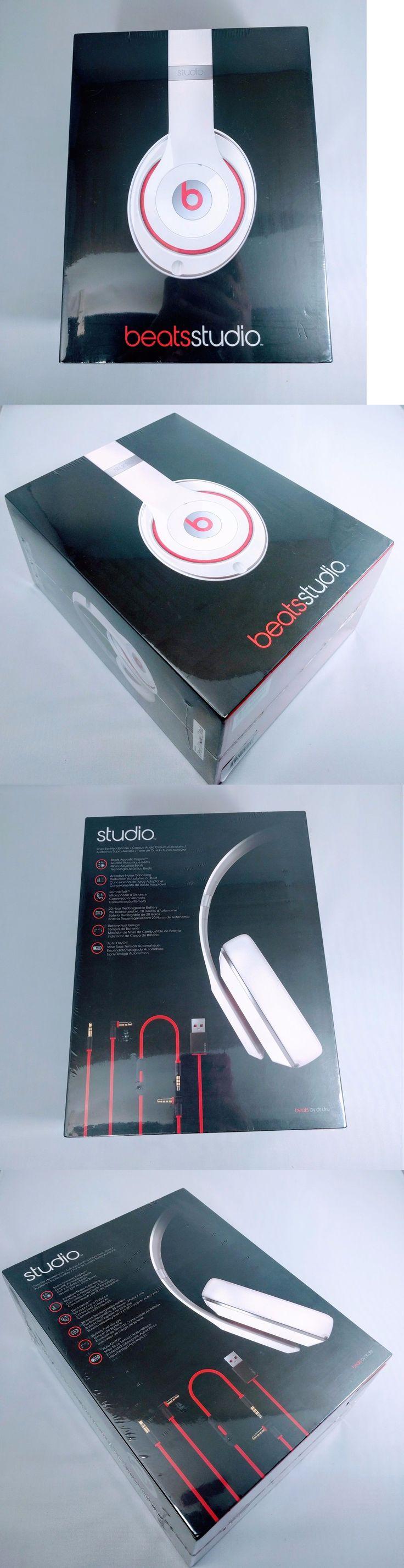 Headphones: New Apple Beats Studio Over-Ear Headphones Mic Noise-Canceling White B0500 Wired -> BUY IT NOW ONLY: $119.88 on eBay!