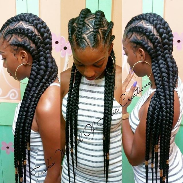 Love these #cornrows @teshesworldofhaircreations This design is so pretty…