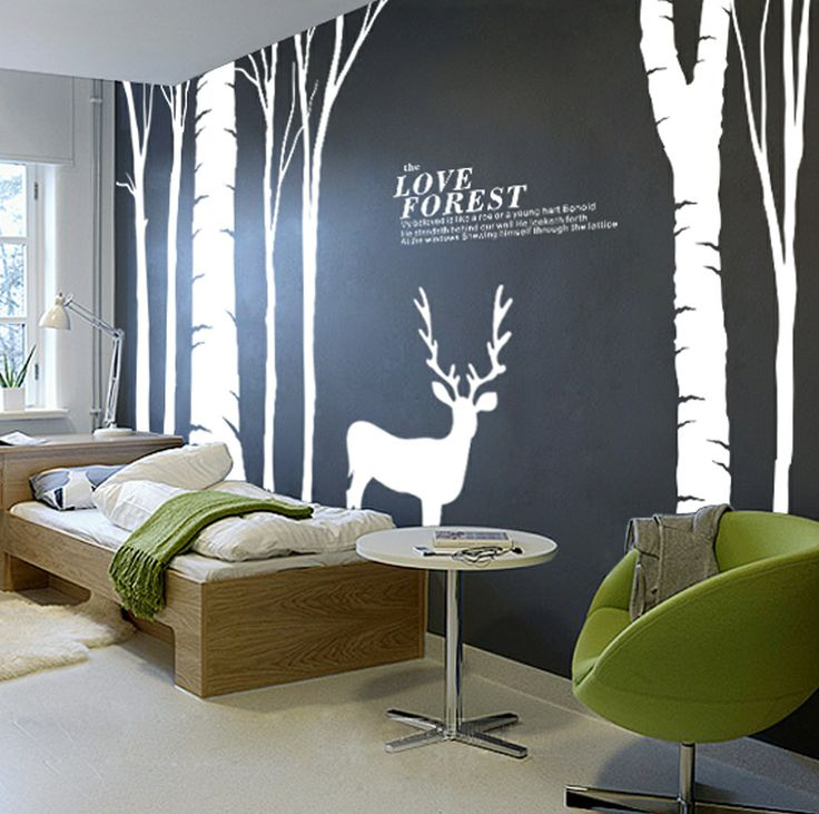 Large, high quality waterproof hollow wall stickers living ...