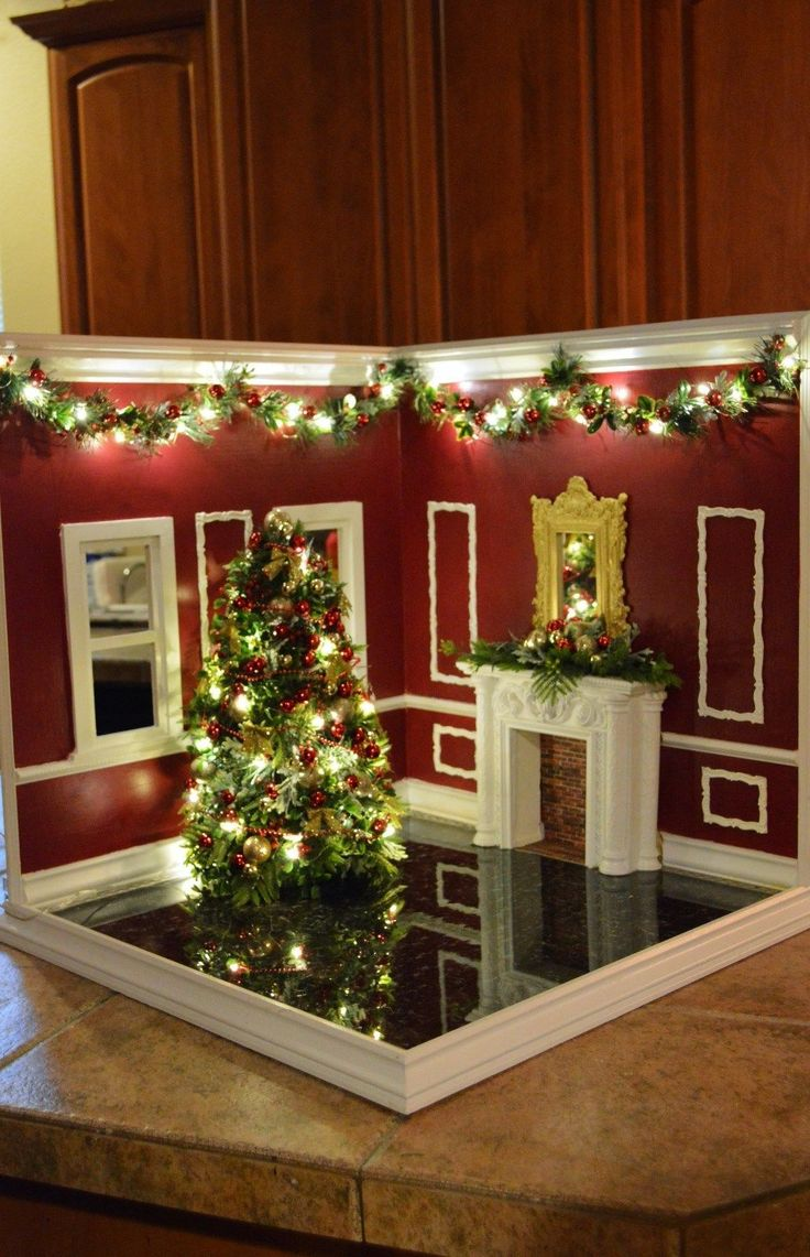 Designer dioramas miniature rooms - 1 6 Scale Hand Crafted Diorama Christmas Corner Room