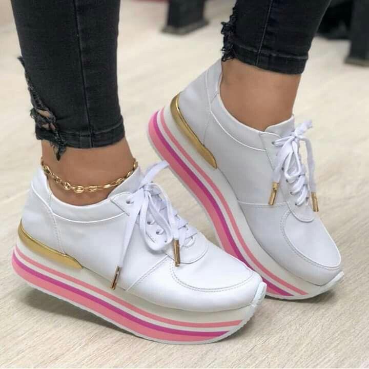 Pin de JOhiis Revelo en platforms sport | Zapatos, Zapatos