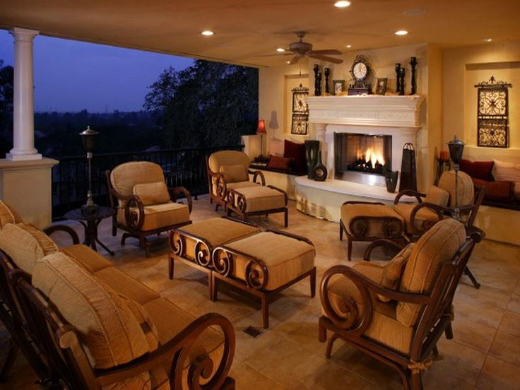 Covered Wonderful Outdoor Living Space Home Patio