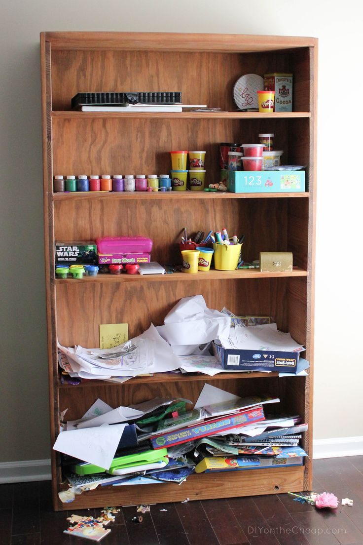 Bookshelf Makeover: Before & After - DIY on the Cheap