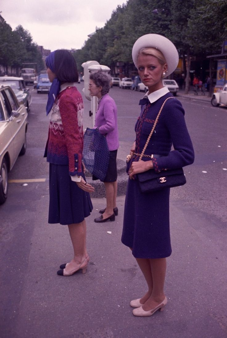 Chanel Bag on the Street by Gray Reginald, WWD, July 24, 1973