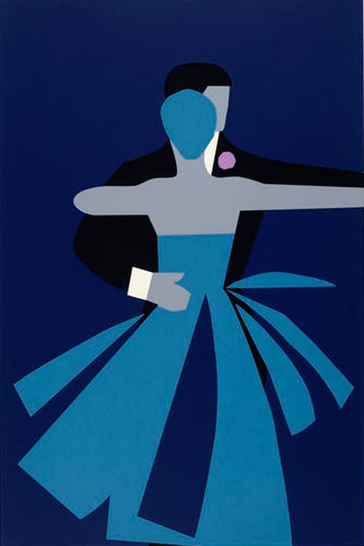 Tom Eckersley c1980-1989; Illustration proof for college annual dinner. http://www.vads.ac.uk/large.php?uid=92531