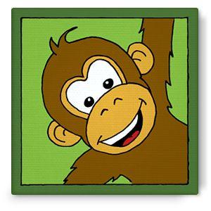 Bibado.nl - kinderschilderij aap, creator: Arjan Ceelen