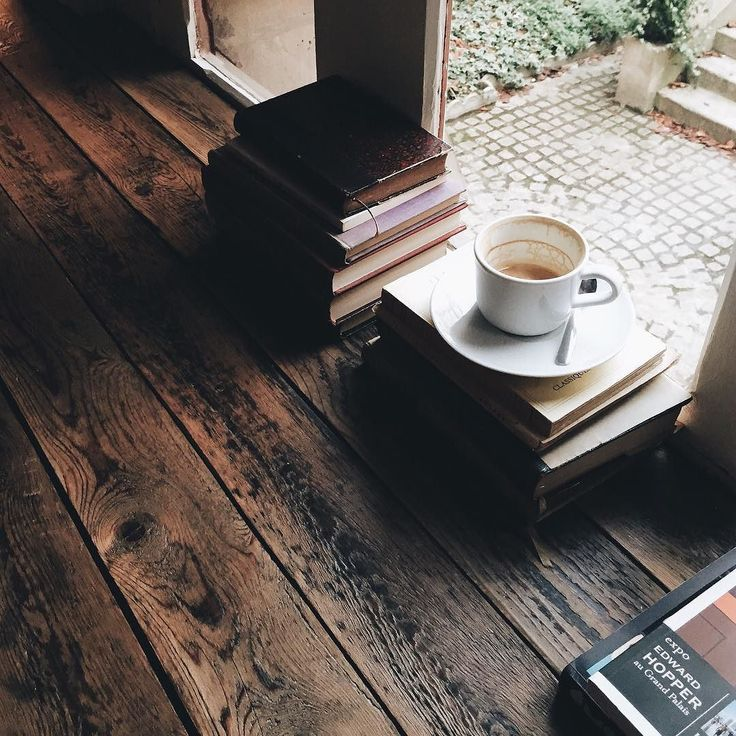 """designcollector: """" Photo by @jasminetartine (http://dcult.net/1MMuDO0)Books & coffee… Is there anything better to soothe the soul with? """""""