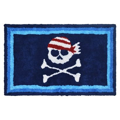 circo pirate bath mat circo 174 pirate bath rug blue nautical bathroom 10604