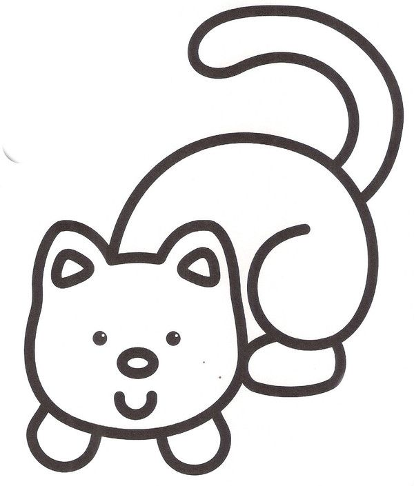 Pingl par dk sur education learning ideas coloriage b b coloriage et coloriage enfant - Dessin a colorier bebe chat ...