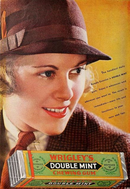 Wrigley's Double Mint Chewing Gum, July 1935.
