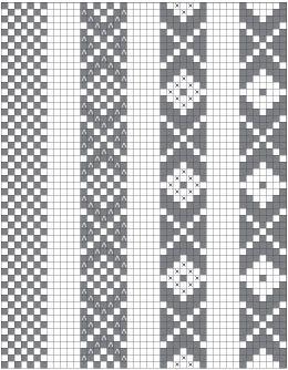 Reading Chart Pickup Inkle Patterns Weaving Inkle