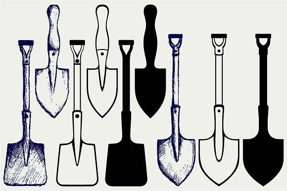 Shovels and spades @creativework247