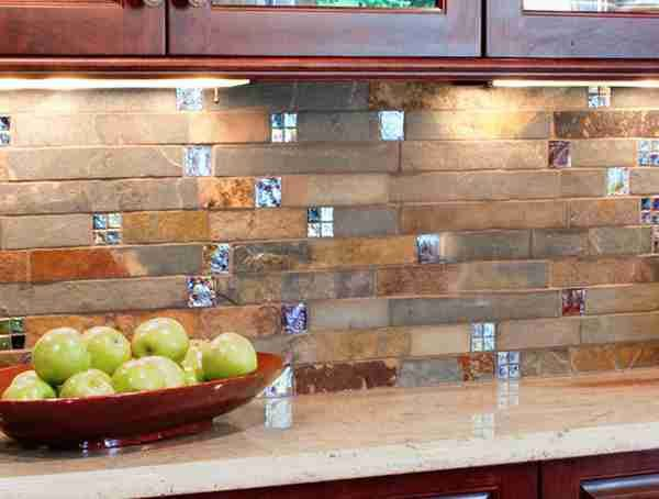 LOVE This backsplash!  Kitchen the Perfectionist One : Rustic Stone ...