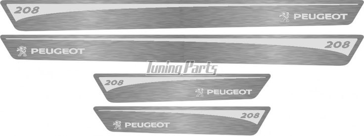 Soleira de Porta Peugeot 208 em Aço Inox Escovado Prata