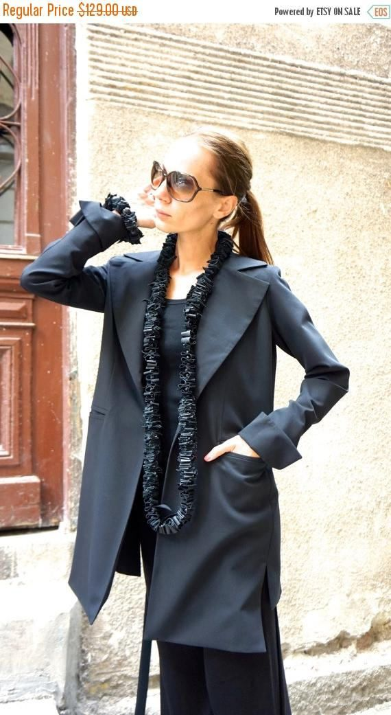 VENDITA nuovo Blazer nero elegante / nuovo autunno