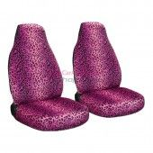 Pink Leopard Car Seat Covers