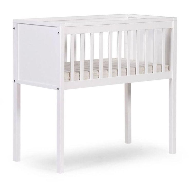 Baby Sleeping Crib White Wooden Nursery Child Infant Toddler Comfortable Bed #BabySleepingCrib #Crib
