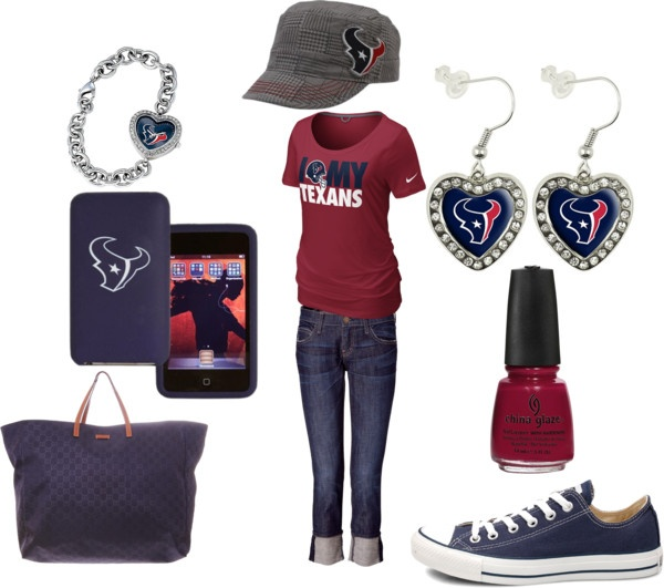Texans outfit!!!....Now I need those chucks!!