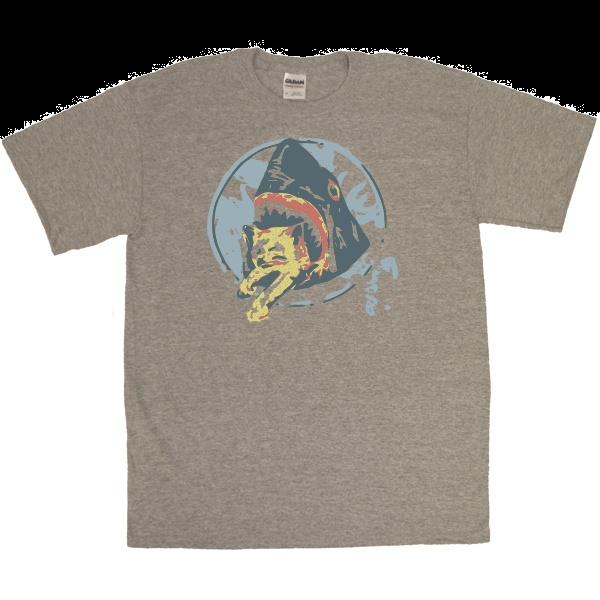Shark Eating Kitten T-Shirt | Saul Silver shirt